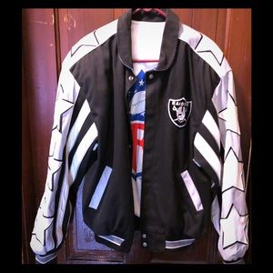 Vintage NFL Raiders coat.